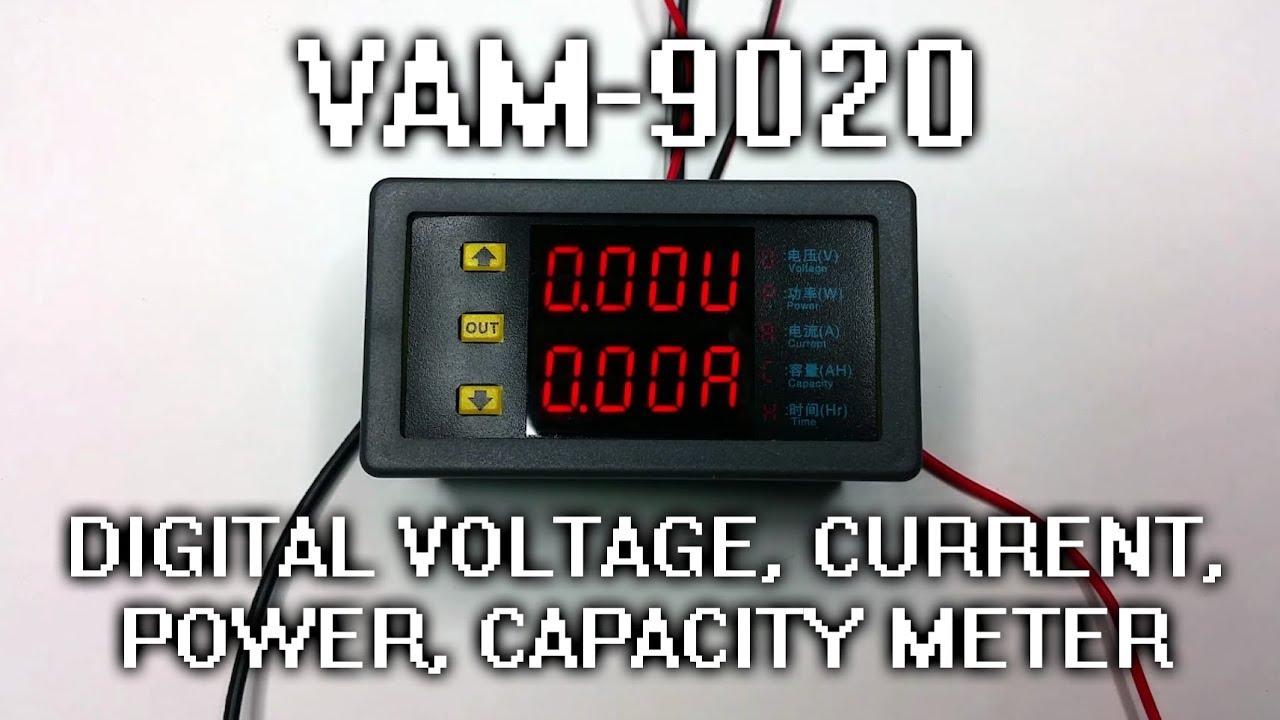 Vam 9020 Digital Voltage Current Power Capacity Panel